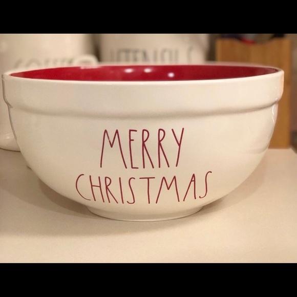 Rae Dunn Christmas Bowls.Rae Dunn Merry Christmas Mixing Bowl Nwt